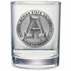 Appalachian State Mountaineers Pewter Accent DOF Glasses, Set of 2
