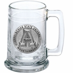 Appalachian State Mountaineers Pewter Accent Glass Beer Mug