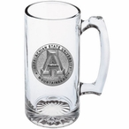 Appalachian State Mountaineers Pewter Accent Glass Super Beer Mug