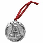 Appalachian State Mountaineers Pewter Accent Ornaments, Set of 2