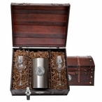 Appalachian State Mountaineers Pewter Accent Wine Chest Set
