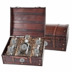 Appalachian State Mountaineers Pewter Capitol Decanter Chest Set