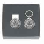 Appalachian State Mountaineers Pewter Money Clip & Key Chain Gift Set