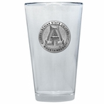 Appalachian State Mountaineers Pewter Pint Beer Glasses, Set of 2