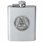 Appalachian State Mountaineers Stainless Steel Flask w/ Pewter Accent