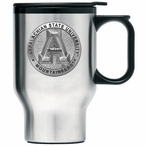 Appalachian State Mountaineers Travel Mug with Handle & Pewter Accent