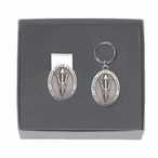 Arizona State Pitchfork Pewter Accent Money Clip & Key Chain Gift Set