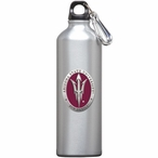 Arizona State Pitchfork Red Pewter Accent Stainless Steel Water Bottle