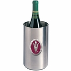 Arizona State Pitchfork Red Pewter Stainless Steel Wine Bottle Chiller