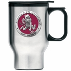 Arizona State Red Sparky Travel Mug with Handle & Pewter Accent