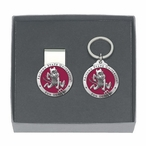 Arizona State Sparky Red Pewter Accent Money Clip & Key Chain Gift Set