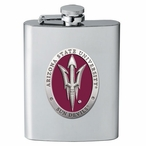 Arizona State Sun Devils Red Pitchfork Flask with Pewter Accent