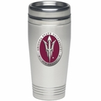 Arizona State Sun Devils Red Pitchfork Travel Mug with Pewter Accent