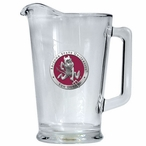 Arizona State Sun Devils Red Sparky Glass Pitcher with Pewter Accent