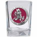 Arizona State Sun Devils Red Sparky Pewter Shot Glasses, Set of 4