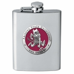 Arizona State Sun Devils Red Sparky Stainless Steel Flask with Pewter