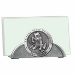 Arizona State Sun Devils Sparky Metal Business Card Holder with Pewter