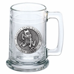 Arizona State Sun Devils Sparky Pewter Accent Glass Beer Mug