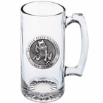 Arizona State Sun Devils Sparky Pewter Accent Glass Super Beer Mug
