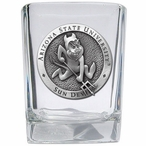 Arizona State Sun Devils Sparky Pewter Accent Shot Glasses, Set of 4