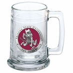 Arizona State Sun Devils Sparky Red Pewter Accent Glass Beer Mug