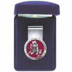 Arizona State Sun Devils Sparky Red Pewter Accent Steel Money Clip