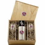 Arizona State Sun Devils Sparky Red Pewter Accent Wine Box Set