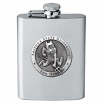 Arizona State Sun Devils Sparky Stainless Steel Flask w/ Pewter Accent