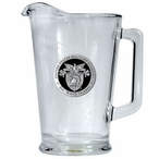 Army Black Knights Black Crest Glass Pitcher with Pewter Accent