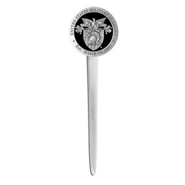 Army Black Knights Crest Letter Opener With Pewter Accent