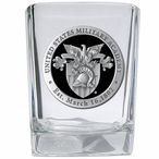 Army Black Knights Black Crest Pewter Accent Shot Glasses, Set of 4