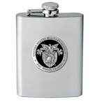 Army Black Knights Black Crest Stainless Steel Flask w/ Pewter Accent