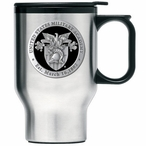Army Black Knights Black Crest Travel Mug with Handle & Pewter Accent
