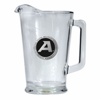Army Black Knights Black Glass Pitcher with Pewter Accent