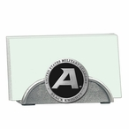 Army Black Knights Black Metal Business Card Holder with Pewter Accent