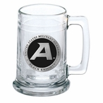 Army Black Knights Black Pewter Accent Glass Beer Mug