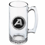 Army Black Knights Black Pewter Accent Glass Super Beer Mug