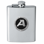 Army Black Knights Black Stainless Steel Flask with Pewter Accent