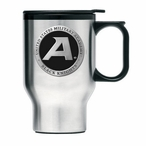 Army Black Knights Black Travel Mug with Handle & Pewter Accent
