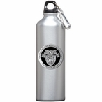 Army Black Knights Crest Black Pewter Accent Stainless Water Bottle