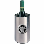 Army Black Knights Crest Black Pewter Stainless Wine Bottle Chiller