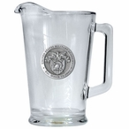 Army Black Knights Crest Glass Pitcher with Pewter Accent