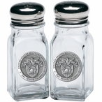 Army Black Knights Crest Pewter Accent Salt & Pepper Shakers