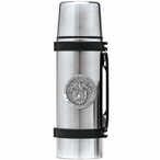 Army Black Knights Crest Pewter Accent Stainless Steel Thermos