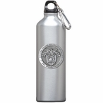 Army Black Knights Crest Pewter Accent Stainless Steel Water Bottle