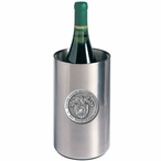 Army Black Knights Crest Pewter Stainless Steel Wine Bottle Chiller