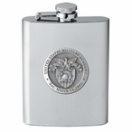 Army Black Knights Crest Stainless Steel Flask with Pewter Accent