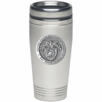 Army Black Knights Crest Stainless Steel Travel Mug with Pewter Accent