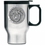 Army Black Knights Crest Travel Mug with Handle & Pewter Accent
