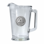 Army Black Knights Glass Pitcher with Pewter Accent